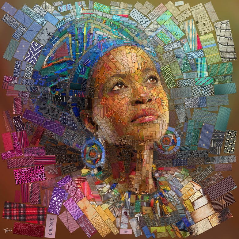 "Image of THE AFRICAN BRICKS ""A Zulu girl"" (Limited edition fine art prints)"