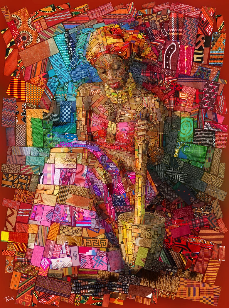 "Image of THE AFRICAN BRICKS ""The Pap lady"" (Limited edition fine art prints)"