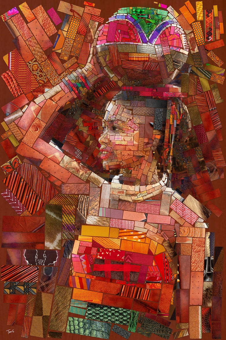 "Image of THE AFRICAN BRICKS ""The water girl"" (Limited edition fine art prints)"