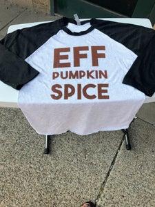 Image of EFF Pumpkin Spice Baseball Tee