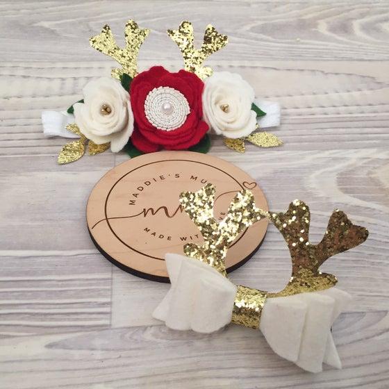 Image of Reindeer Antler Crowns & Bows