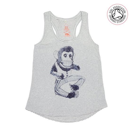 Image of Broken Monkey Girls Melange Striped Racerback Tank (Organic)