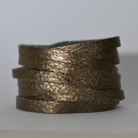 Image of Bronze leather wrap bracelet