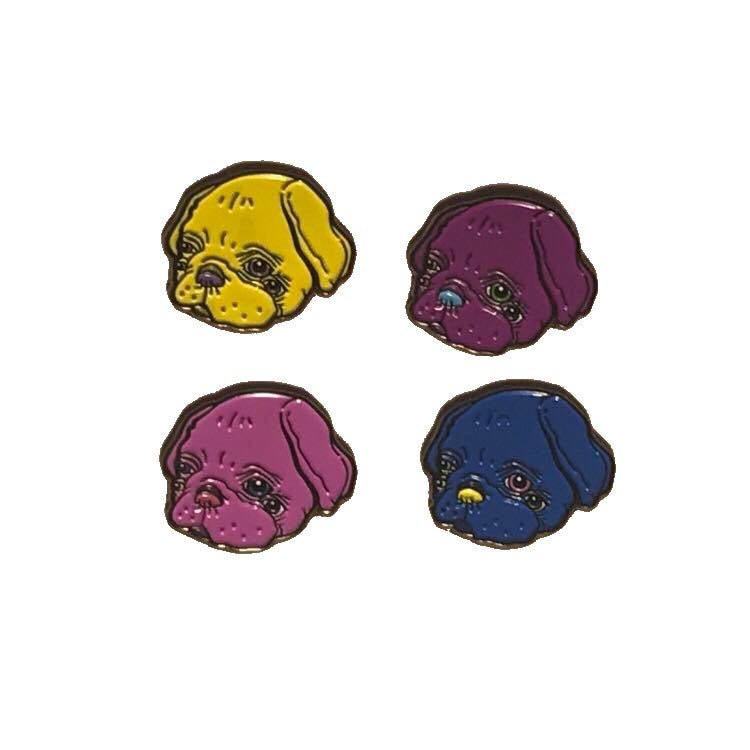 Image of gubby the pug pins
