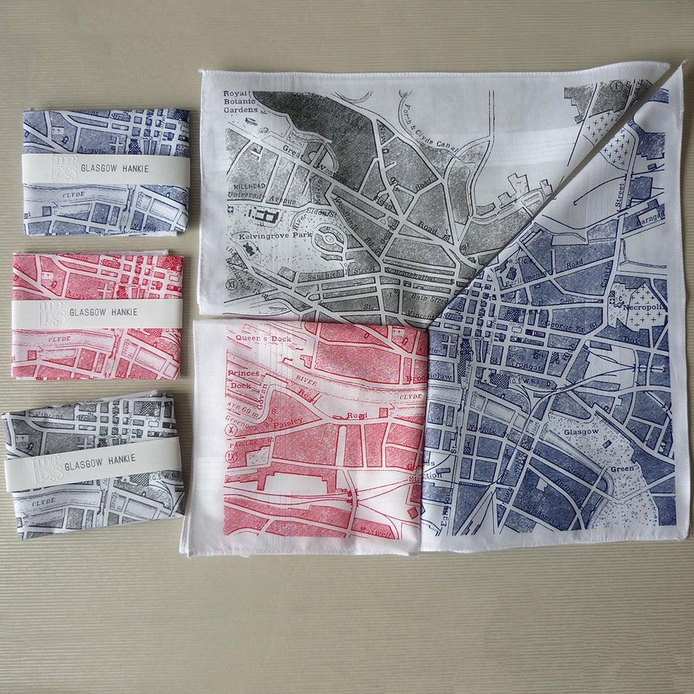 Image of Glasgow Map Hankie