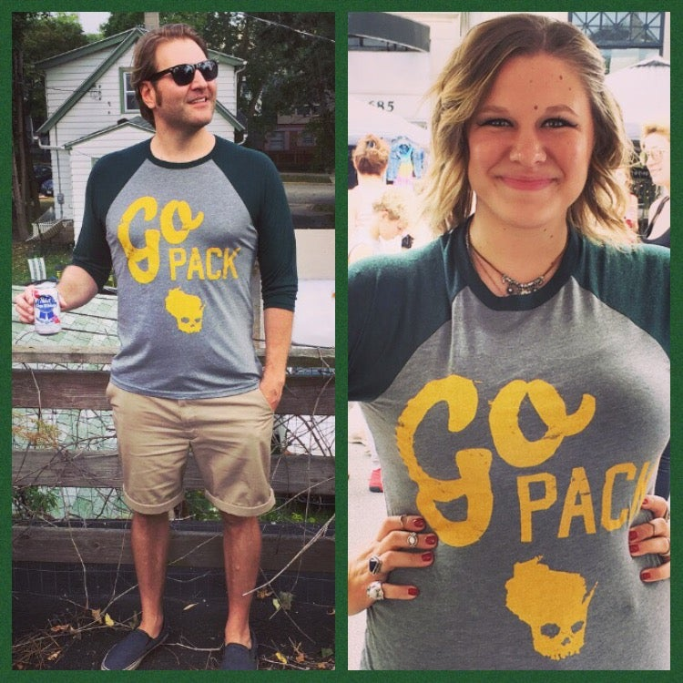Image of Go Green and Gold 3/4 Sleeve Unisex