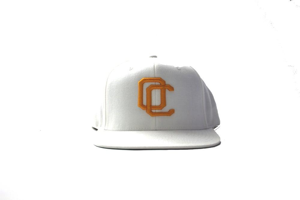 Image of GOLD ON WHITE OC HAT