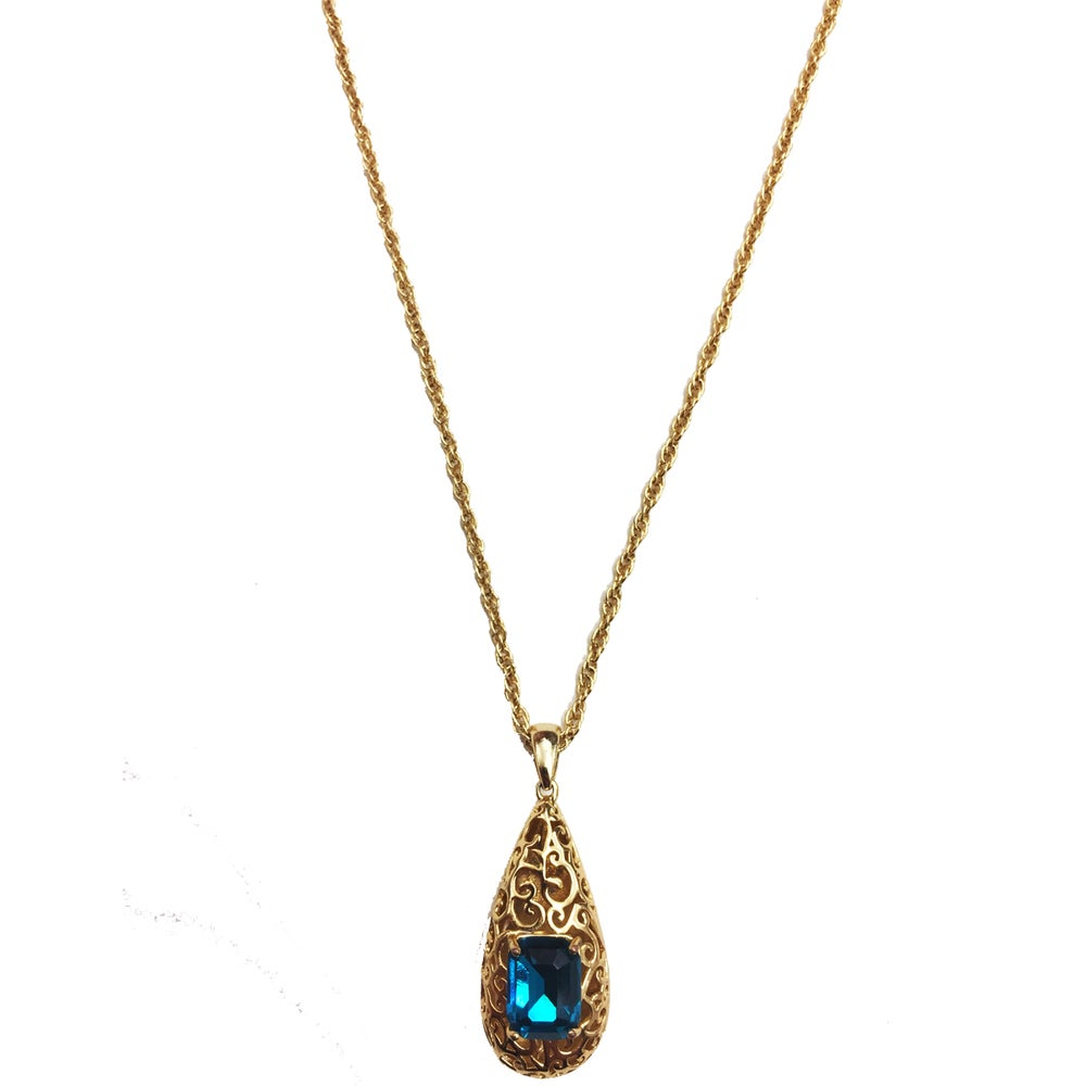 "Image of ""Reign Drop"" 14k Gold • Blue stone"