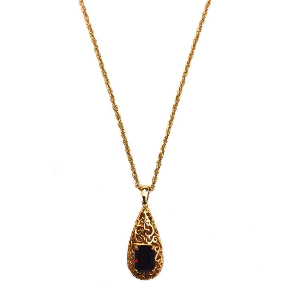 "Image of ""Reign Drop"" 14k Gold • Red stone"