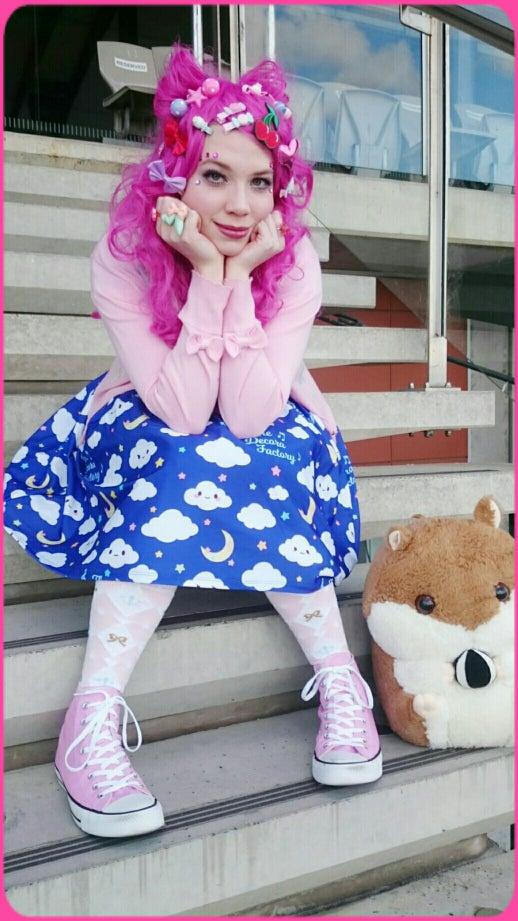 Image of Wandering Cloud Pocket Skater Dress