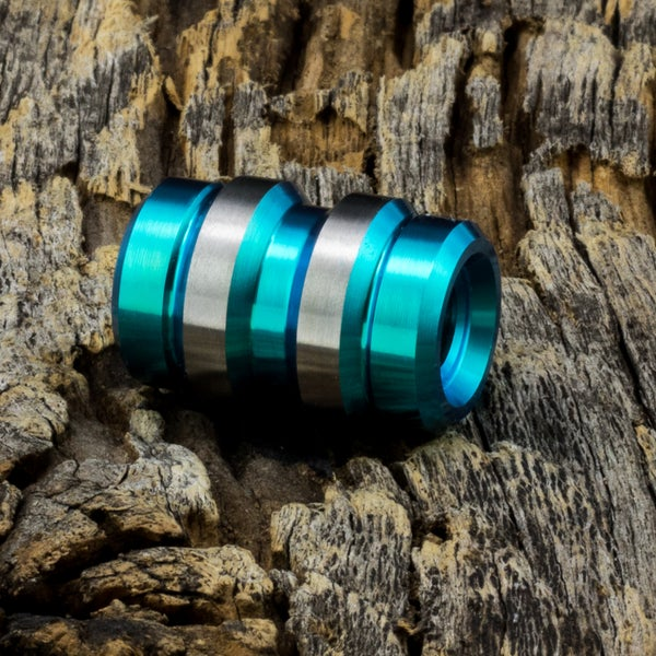 Image of Keg Aqua Ti Bead #1