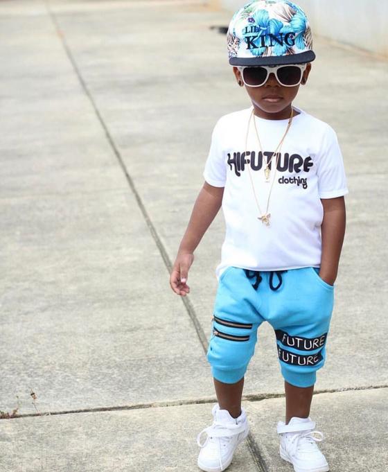 Image of Blue HI Future Harem Shorts