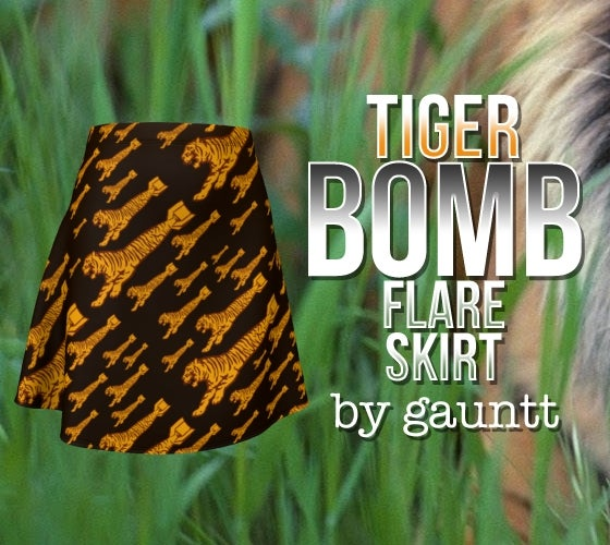 Image of Tiger Bomb Flare Skirt