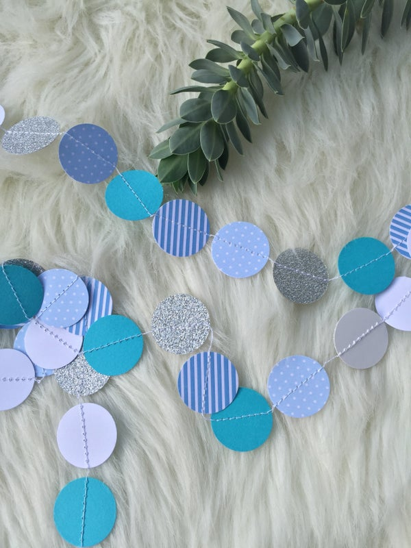 Image of Guirlande confetti bleu