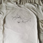 Image of 2 sharks shirt