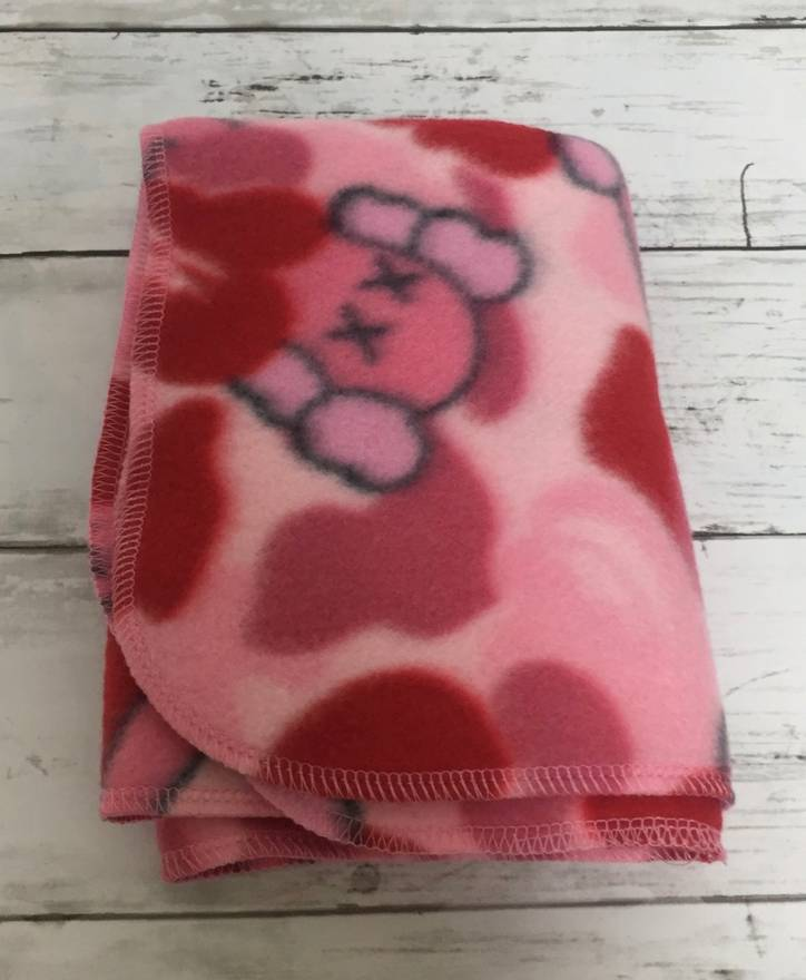 Image of Bape x Kaws Mini Blanket