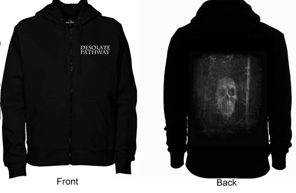 Image of Skull & Logo Zip-up Hoodie