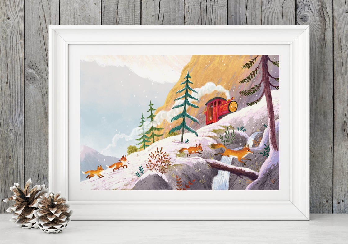 Image of 'Mountain Foxes' - A3 Signed giclee print