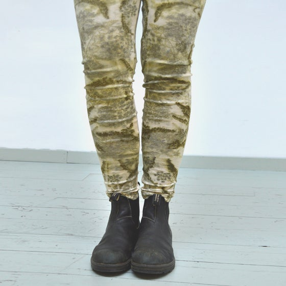 Image of Eco print merino wool leggings