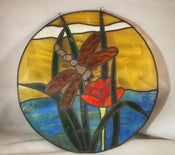 Image of Dragon Fly Stained Glass 9242