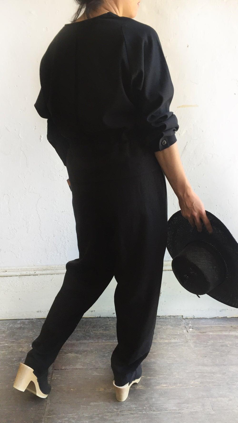 Image of Black Crane Sack Jumper