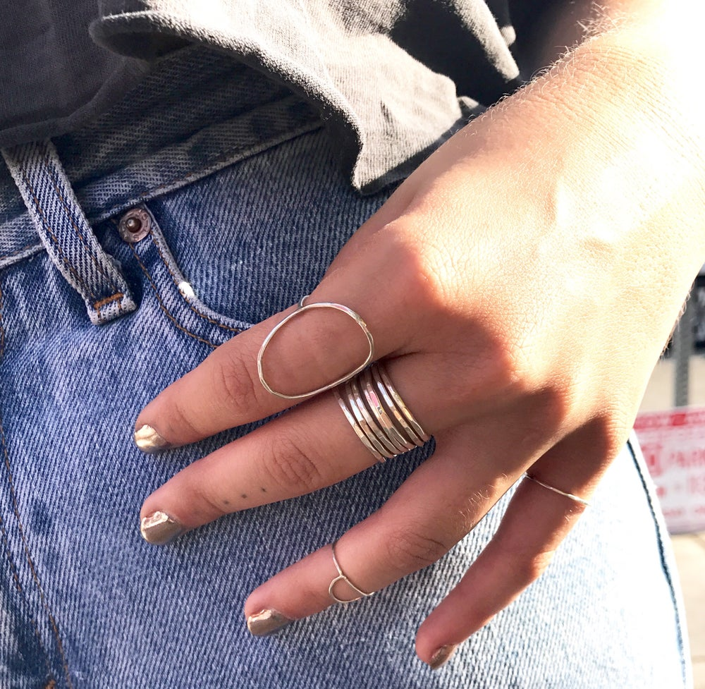 Image of Hammered Stacking Rings