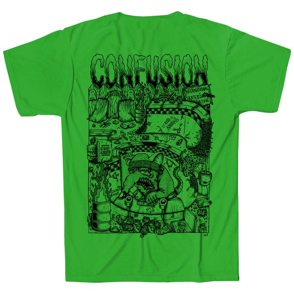 Image of Confusion - BACKYARD DIY t-shirt  [green]