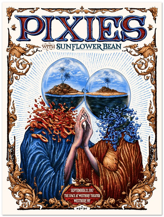 Image of PIXIES gig poster, September 22, 2017 at Westbury Theater, Westbury New York