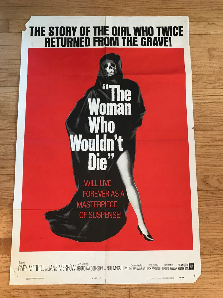 Image of 1965 THE WOMAN WHO WOULDN'T DIE aka CATACOMBS Original U.S. One Sheet Movie Poster