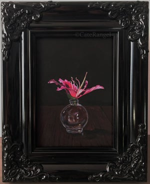 Image of Orchid Tree Blossom - Framed Original Painting