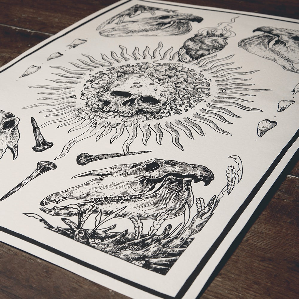 "Image of ""Helios"" A2 Screen Prints"