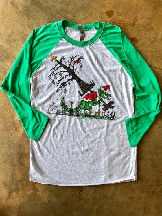 Image of Adult How the Gator Stole Christmas 3/4 length Raglan