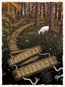 Image of Greensky Bluegrass Fall 2017 Tour Poster
