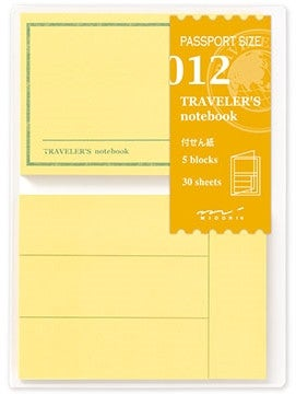 Image of TRAVELER'S notebook Passport Post It Refill 012