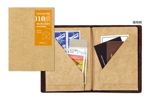 Image of TRAVELER'S notebook Passport Kraft File Folder Refill 010