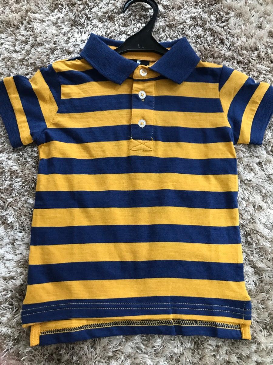 Image of Boys stripe polo top
