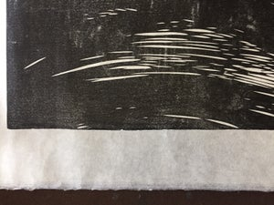 Image of Whale linocut