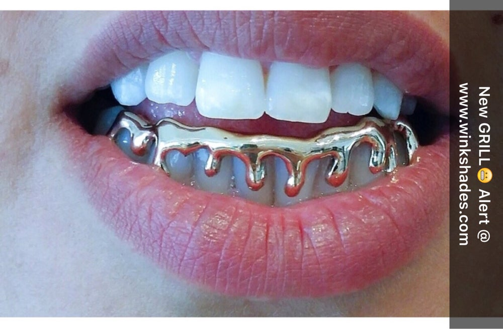 Image of DRIPPED GRILL (bottom grill) gold
