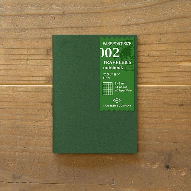 Image of TRAVELER'S notebook Passport Grid Refill 002