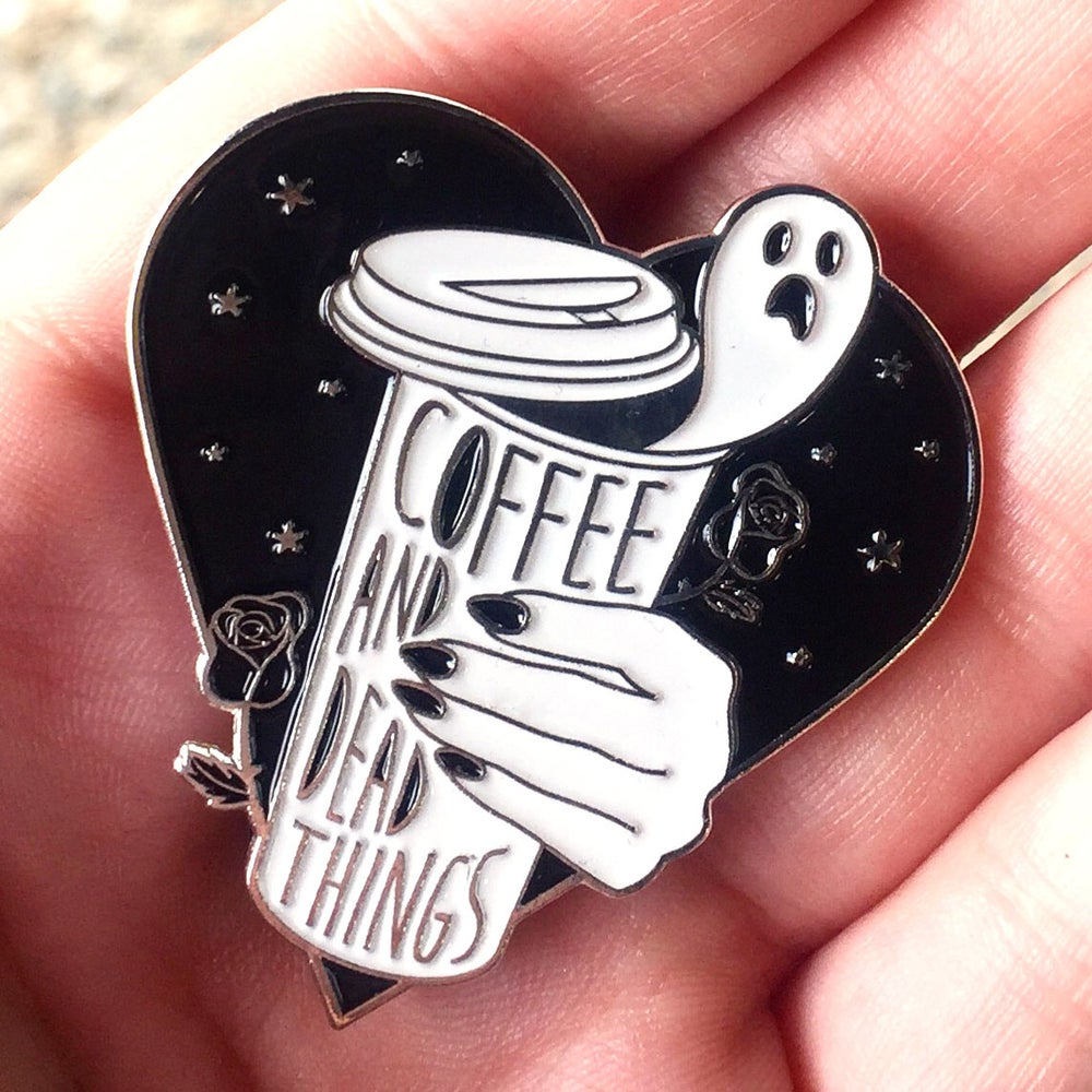 Image of Coffee & Dead Things Enamel Pin