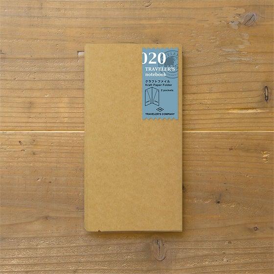 Image of TRAVELER'S notebook Regular Kraft Paper Folder Refill 020