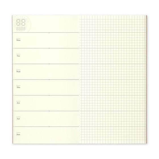 Image of TRAVELER'S notebook Regular Free Diary Weekly + Memo Refill 019