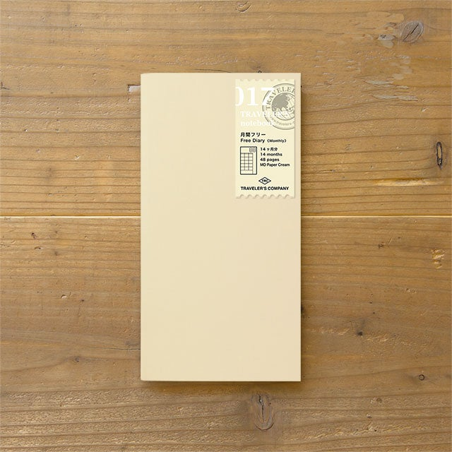 Image of TRAVELER'S notebook Regular Free Diary Monthly Refill 017