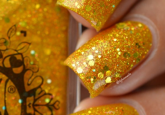 """Image of ~Jar of Light~ gold yellow jelly glitter Spell nail polish """"Legends & Dreams""""!"""
