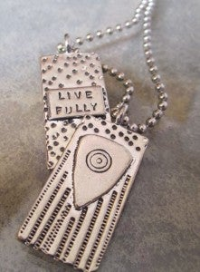 Image of Live Fully  pewter pendant