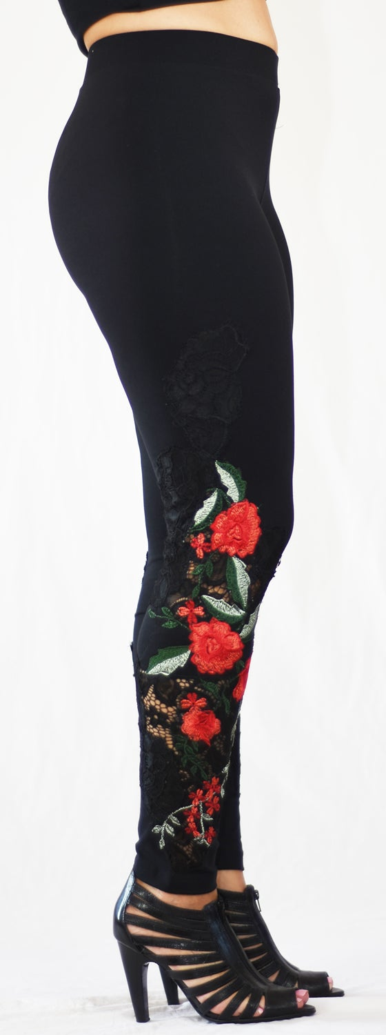 Image of Red Flower Lace FW6033