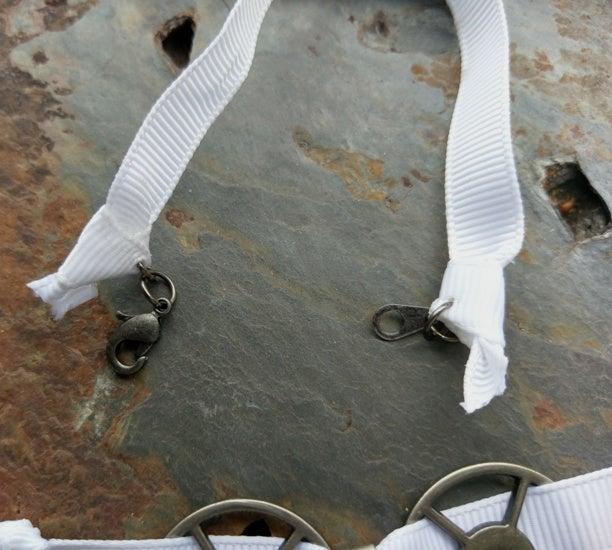 Image of Skull & Crossbones choker, handmade