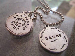 """Image of """"Let Your Spirit Dance""""  Pewter Pendant"""