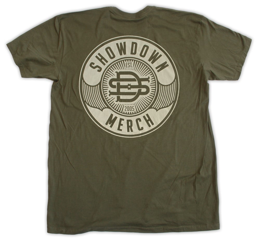 Image of Military Green Work Shirt w/Tan