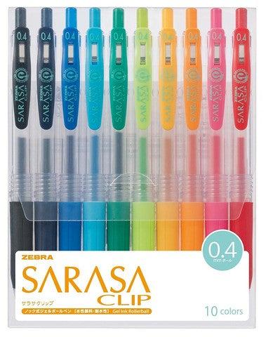 Image of Zebra Sarasa Clip Gel Pen 10 Color Set - 4mm